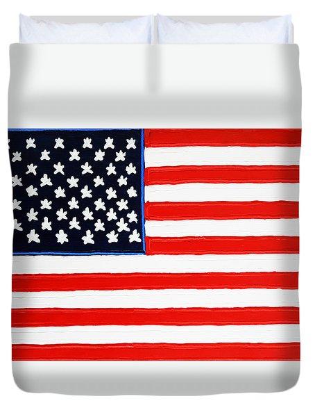 American Flag Duvet Cover by Matthew Brzostoski