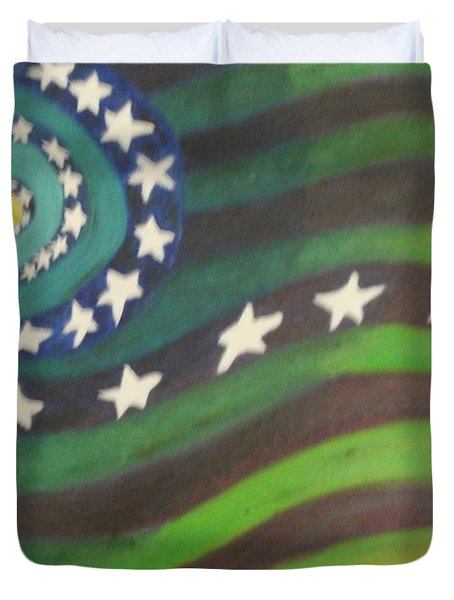 American Flag Reprise Duvet Cover by Thomasina Durkay