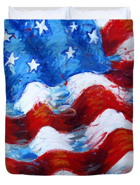 American Flag Duvet Cover by Venus