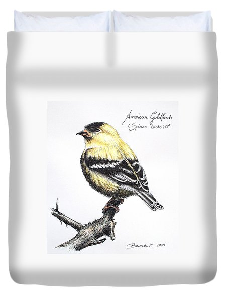 American Goldfinch Duvet Cover by Katharina Filus