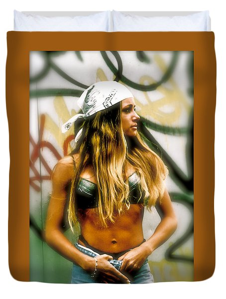 Duvet Cover featuring the photograph American Grunge  by Iconic Images Art Gallery David Pucciarelli