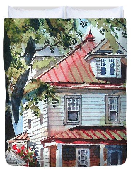American Home With Children's Gazebo Duvet Cover