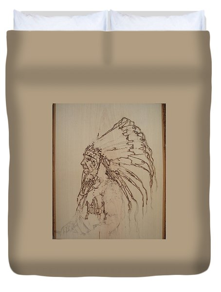 American Horse - Oglala Sioux Chief - 1880 Duvet Cover by Sean Connolly