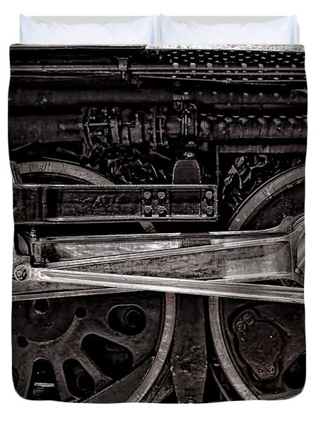 Duvet Cover featuring the photograph American Iron by Ken Smith