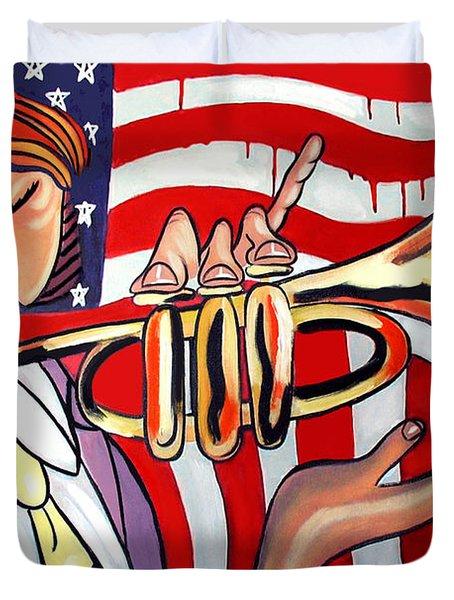 American Jazz Man Duvet Cover