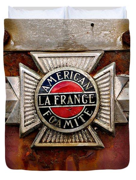 American Lafrance Foamite Badge Duvet Cover