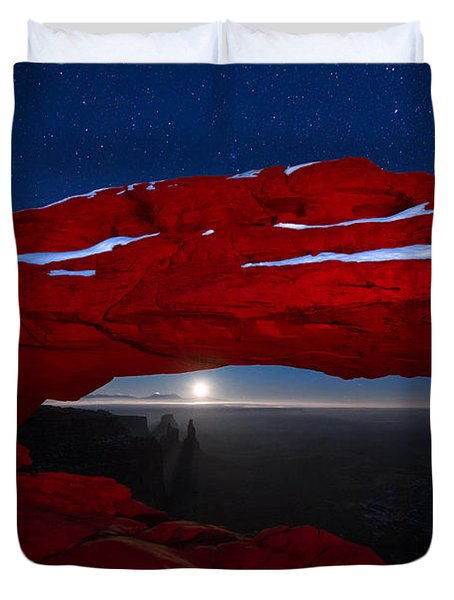 American Moonrise Duvet Cover