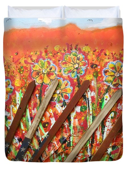 American Mornin' Flower Garden Duvet Cover