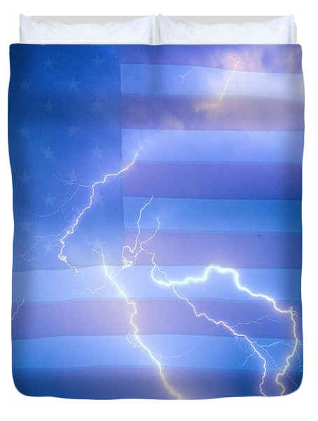 American Mother Nature's Fireworks  Duvet Cover