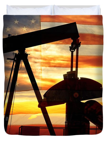 American Oil  Duvet Cover