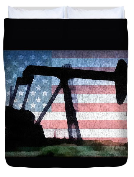 American Oil Rig Duvet Cover by Dan Sproul