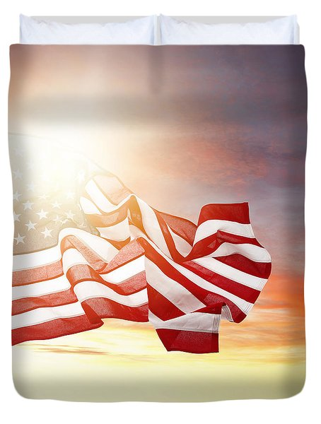 American Pride Duvet Cover by Les Cunliffe