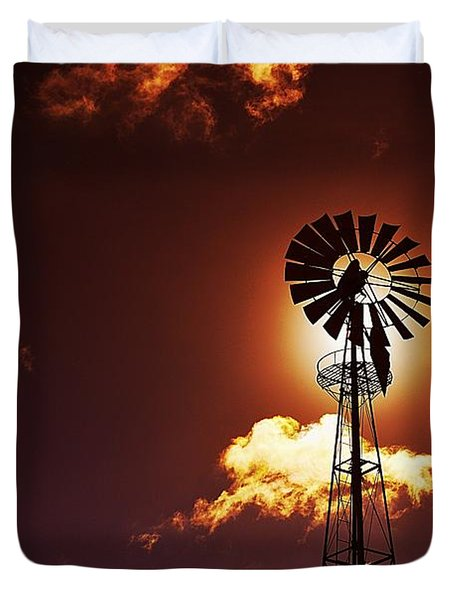 American Windmill Duvet Cover by Marco Oliveira