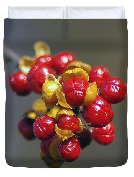 American Winterberry Duvet Cover by Brian Wallace
