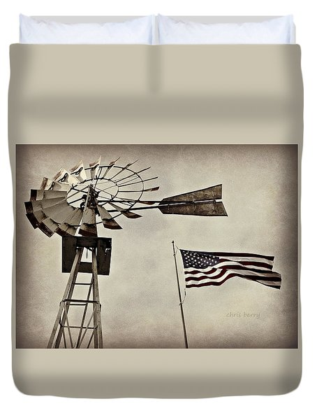 Americana Duvet Cover by Chris Berry