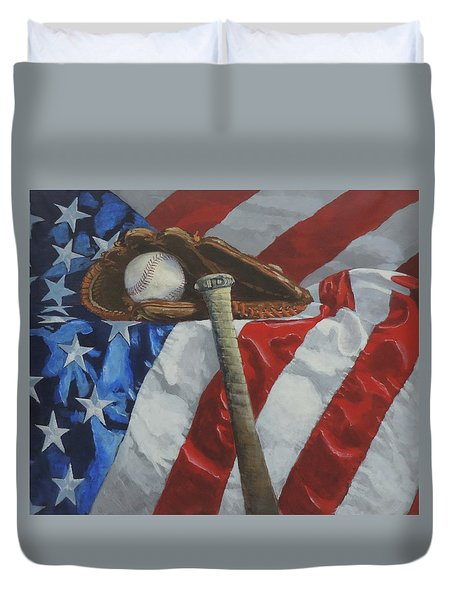 America's Game Duvet Cover
