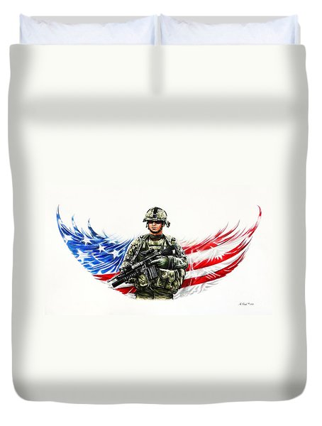 Americas Guardian Angel Duvet Cover by Andrew Read