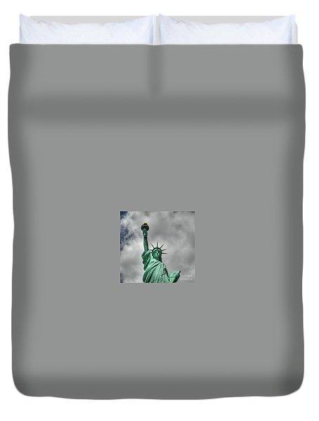 America's Lady Liberty Duvet Cover