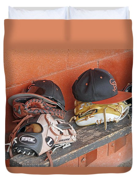 America's Pastime  Duvet Cover by Shoal Hollingsworth