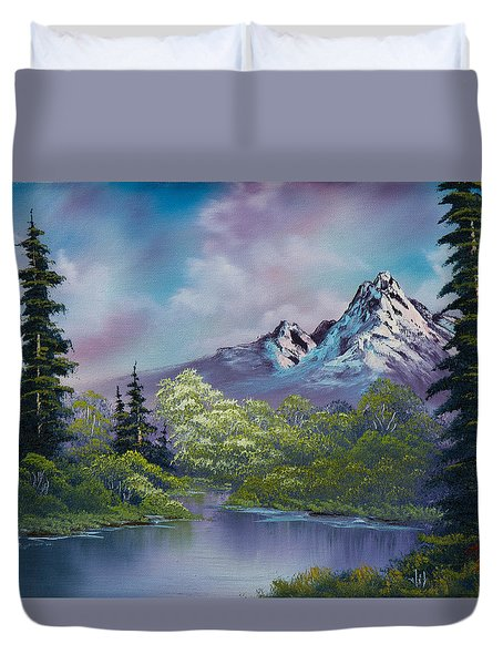 Amethyst Evening Duvet Cover by C Steele