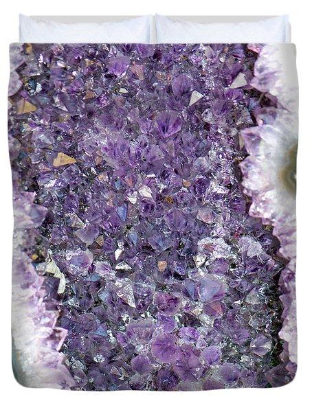 Amethyst Geode Duvet Cover by Tikvah's Hope