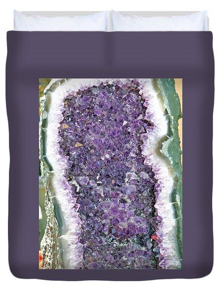 Amethyst Geode Duvet Cover
