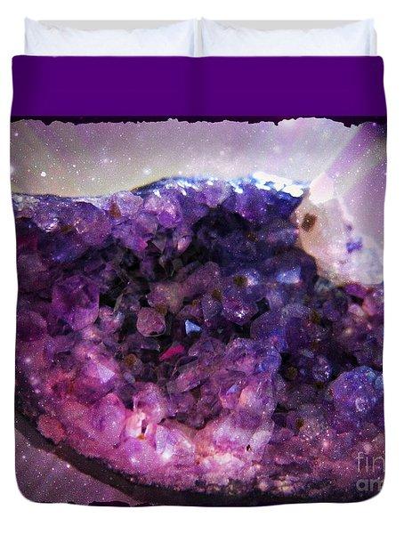 Amethyst  Duvet Cover by Leanne Seymour
