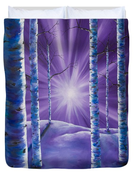 Amethyst Winter Duvet Cover