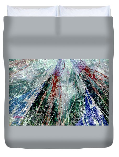 Amid The Falling Snow Duvet Cover