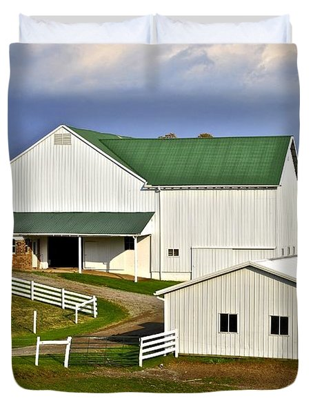 Amish Country Barn Duvet Cover by Frozen in Time Fine Art Photography
