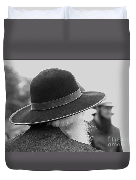 Amish Faces Duvet Cover by Mary Carol Story