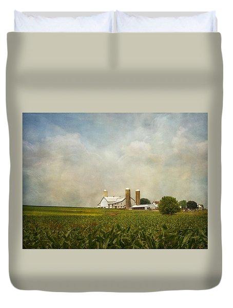 Amish Farmland Duvet Cover