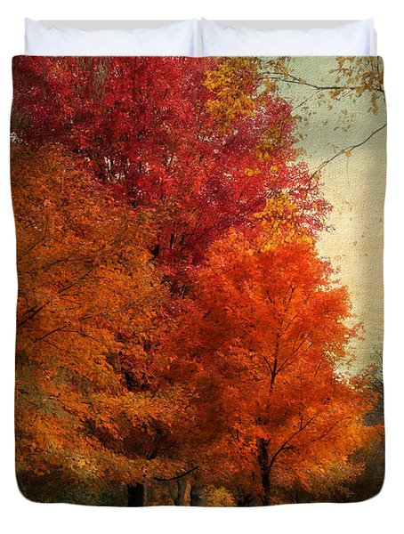 Among The Maples Duvet Cover by Jessica Jenney