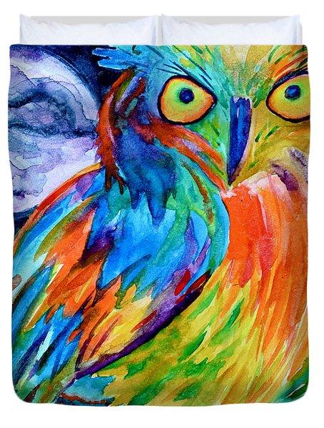 Ampersand Owl Duvet Cover by Beverley Harper Tinsley