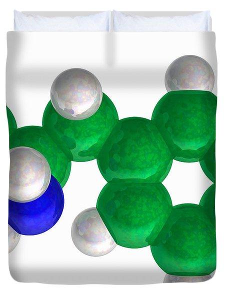 Amphetamine, Molecular Model Duvet Cover