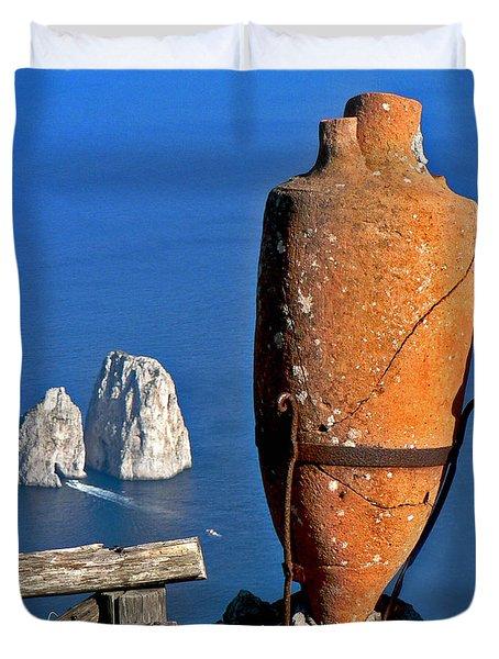 Amphora On The Island Of Capri 2 Duvet Cover