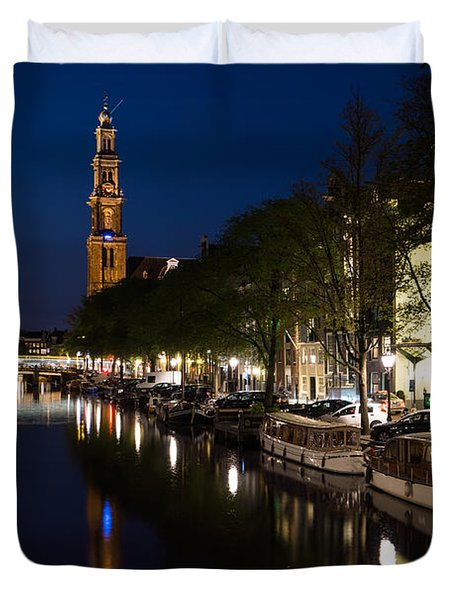 Amsterdam Blue Hour Duvet Cover
