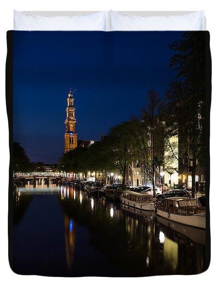 Amsterdam Blue Hour Duvet Cover