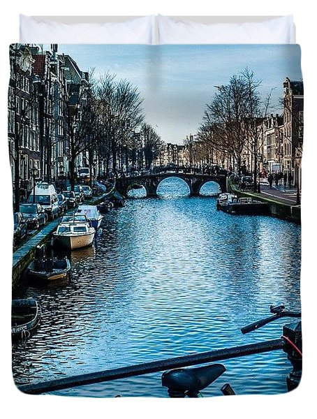 Amsterdam Canals Duvet Cover