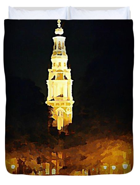 Amsterdam Church And Canal Duvet Cover by John Malone