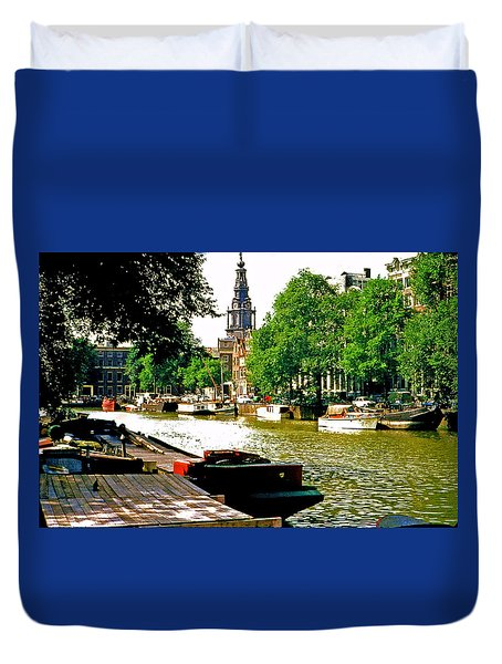 Duvet Cover featuring the photograph Amsterdam by Ira Shander