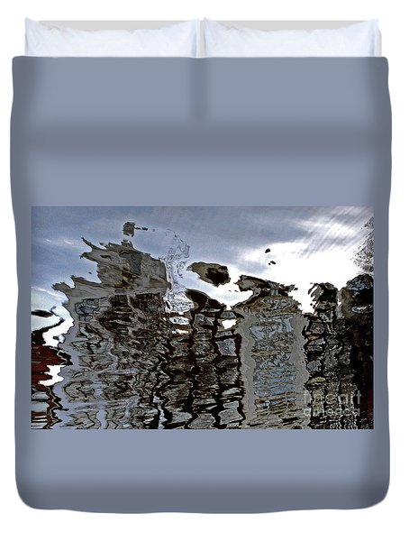 Duvet Cover featuring the photograph Amsterdam Reflections 2 by Andy Prendy