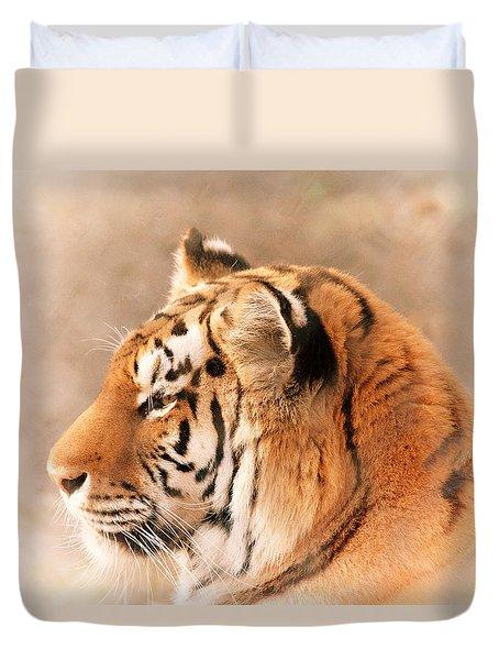 Amur Tiger Duvet Cover by Karol Livote
