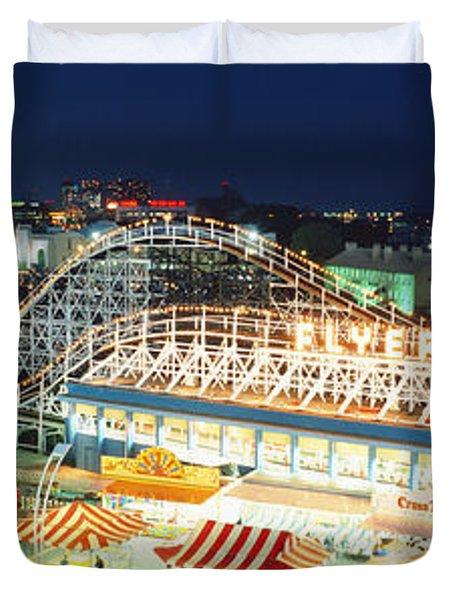 Amusement Park Ontario Toronto Canada Duvet Cover