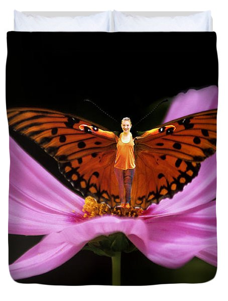 Amy The Butterfly Duvet Cover