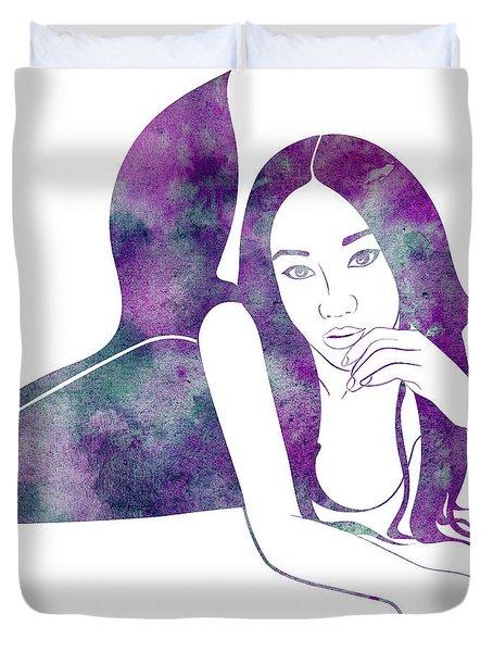 Amythest Mermaid Duvet Cover