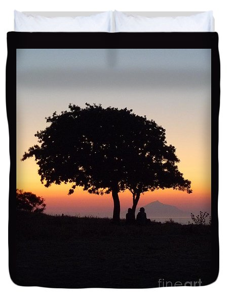 An African Sunset Duvet Cover by Vicki Spindler