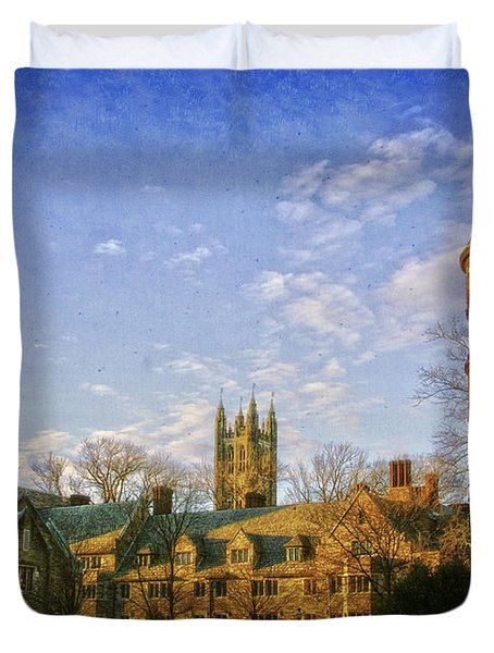 An Afternoon At Princeton Duvet Cover