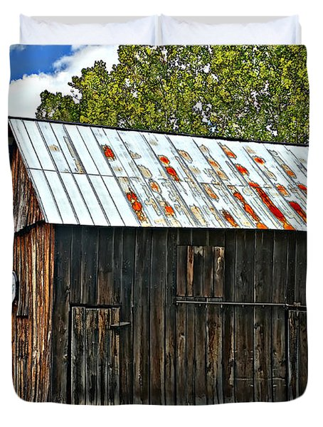 An American Barn 2 Painted Duvet Cover by Steve Harrington