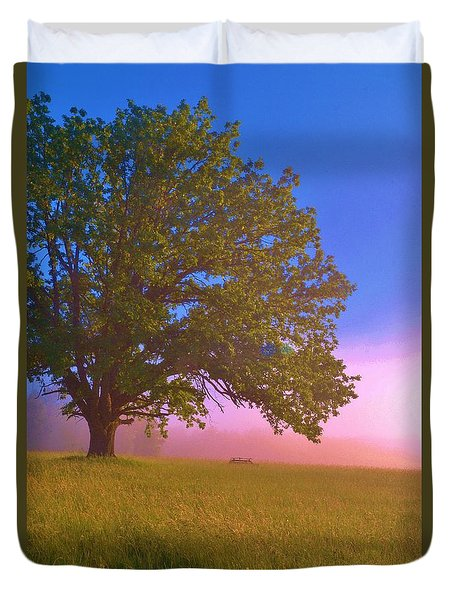 An All-american Sunrise Duvet Cover